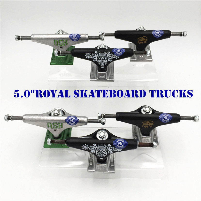 Original USA 5.0  Inch Royal Trucks For Skateboarding Made By Aluminum For 2 Types Caminhao Trucks Kaykay