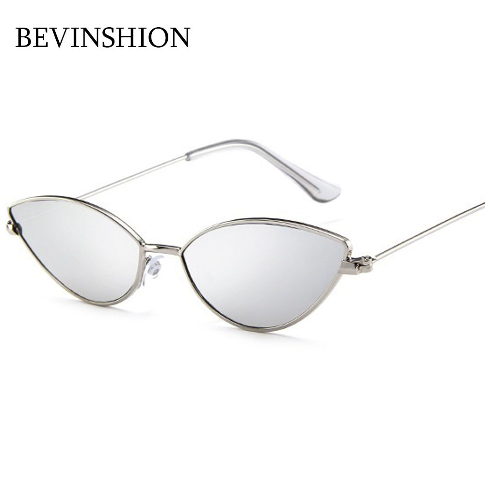 dff75a5286 Korean Style Cute Cat Eye Sunglasses Women Mini Small Glasses Metal Frame  Light Red Yellow Pink Lens Sexy Party Travel Lunette-in Sunglasses from  Apparel ...