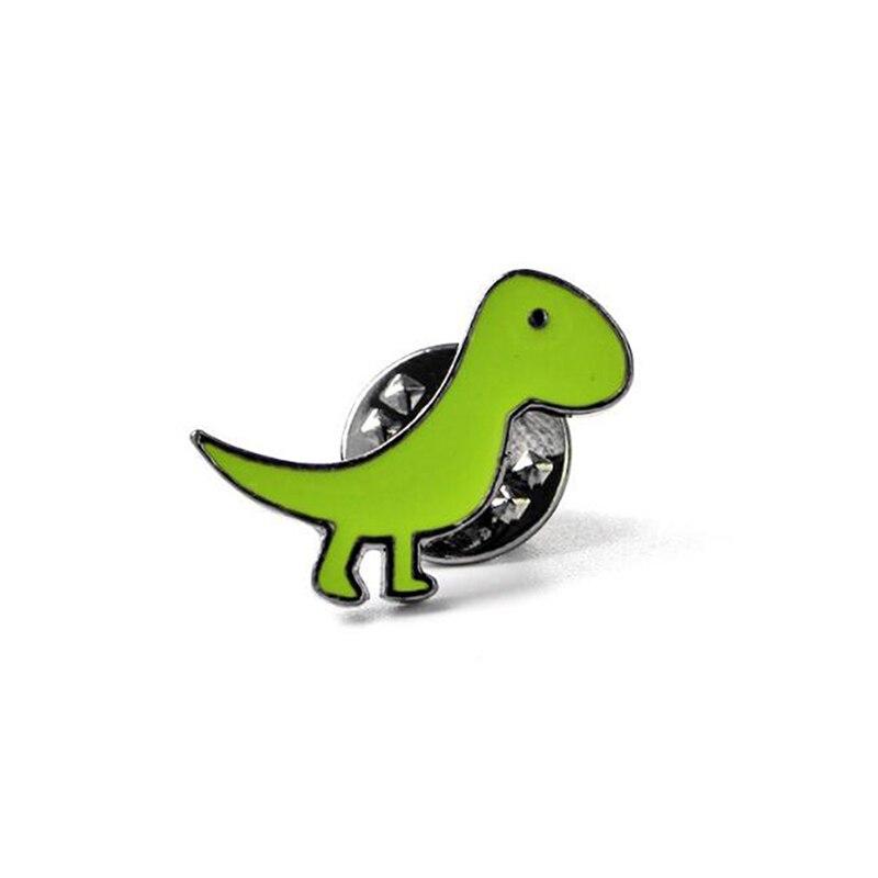 Мультяшная мини-брошь с динозавром на булавке, милые эмалированные заколки с животными, украшение для одежды, шляпы, металлический значок, броши для женщин и мальчиков - Цвет: 03