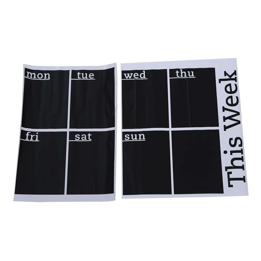 Weekly Planner Calendar Blackboard Removable Wall Sticker Chalk Board Decal
