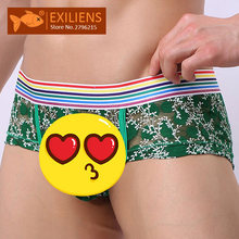 EXILIENS Brand New Underwear Men Boxer Mens Boxers Lace Sexy Ropa Interior Hombre Cueca Masculina Breathable Size M-2XL 090701(China)