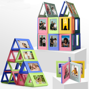 Image 3 - Photo Frame Magnetic Mini 3 inch DIY  Picture Combination Assembly Table Decoration Refrigerator Stickers for Fuji Instax Films