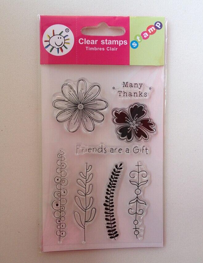 10*15CM Scrapbook Clear Stamp DIY Photo Album Wedding Invitation Card Favors Birthday Festival Party Butterfly Flowers Bird Wish