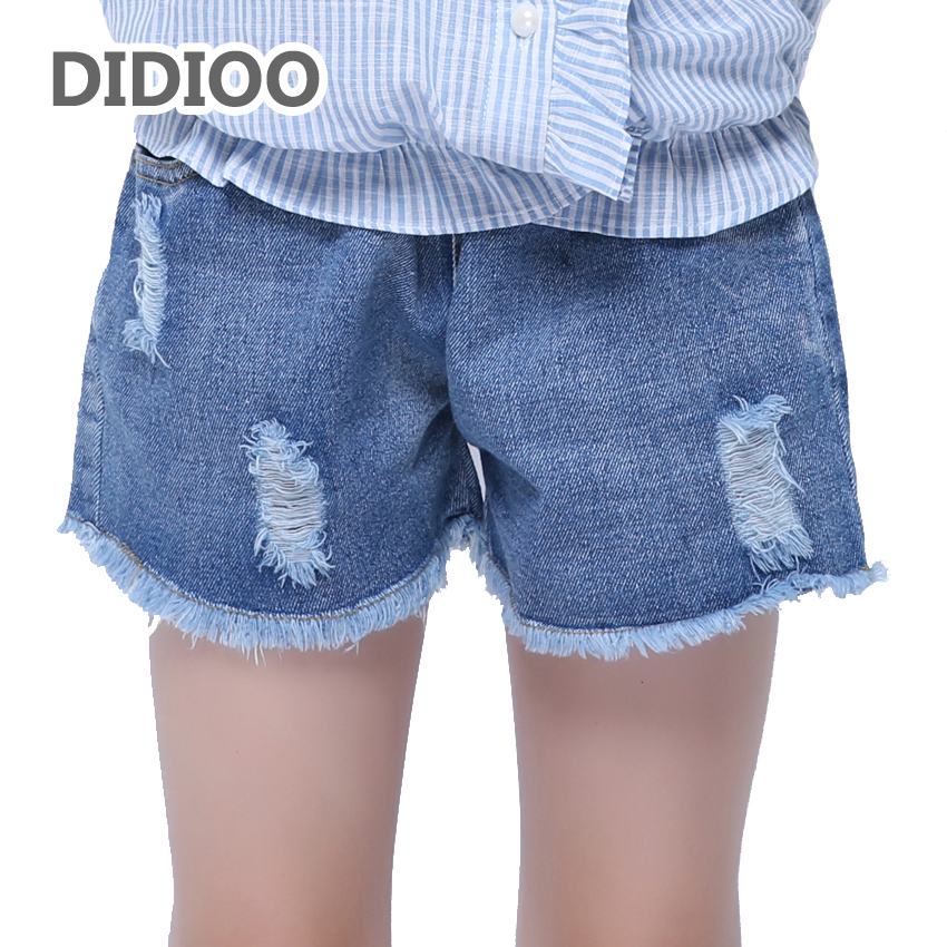 Girls Shorts Elastic Waist Ripped Jeans Summer Children Denim Shorts For Kids Clothes 2 4 6 7 8 9 10 12 Years Students Hot Pants status quo pictures live at montreux 2009 blu ray