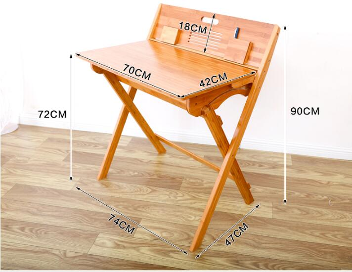 For Children Folding Study Table Portable Bamboo Writing Desk Modern Student Learning Table