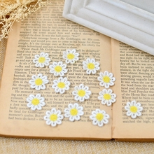 20Pieces Water Soluble Daisy Flower Lace Patch Embroidery Fabric Applique Handmade DIY Custom Clothing Accessories