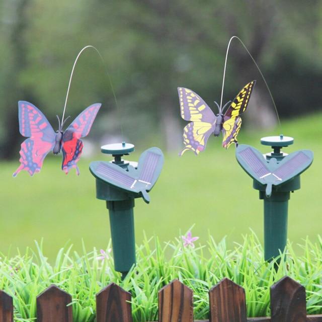 //LOT Solar Dancing Flying Fluttering Butterflies Colorful Vibration Hummingbird