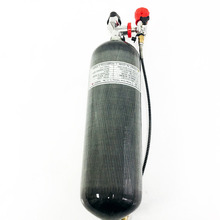 6.8L 4500psi Carbon Fiber Cylinder for SCBA/SCUBA Diving/PCP Rifle Hunting+gauge valve+fill station  цены
