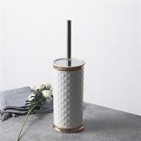 유럽 세라믹 가정용 욕실 청소 브러시 스테인레스 스틸 화장실 브러시 세트 화장실 브러시 기본 무료 펀치