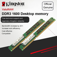 Original Kingston Memoria RAM 4GB 2GB 1600MHz DDR3 (PC3 12800) 240 Pin Intel DIMM Motherboard Memory For Desktop PC 1600 MHz
