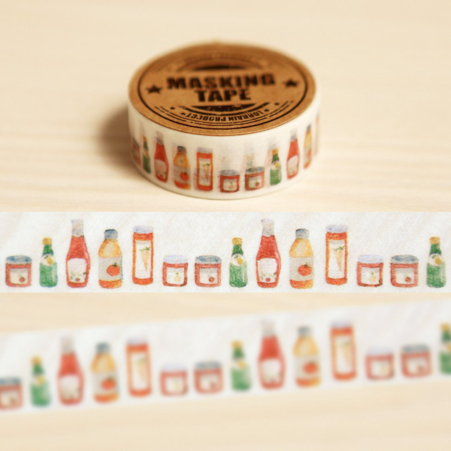 15mm X 7m Jar Of Hearts Decorative Washi Tape Diy Scrapbooking Masking Tape School Office Supply
