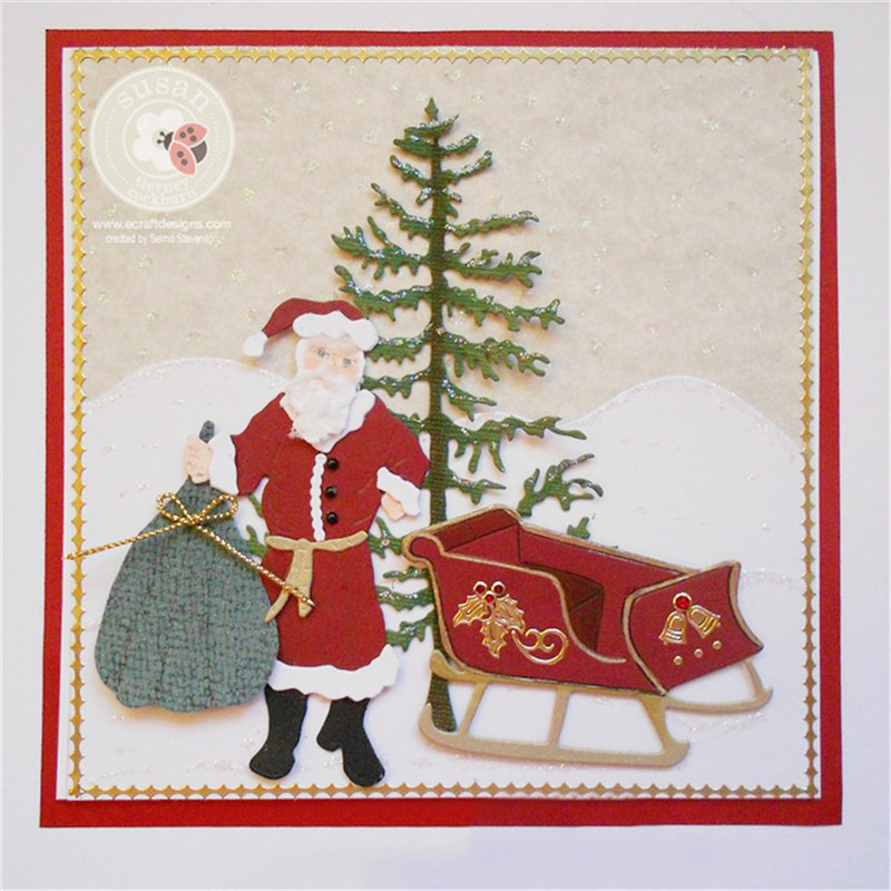 InLoveArts 2018 Santa Gift Scrapbooking Craft Dies 9Pcs ...