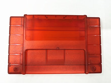 5PCS Replacement Game Cartridge For SNES 16bit game card Shell For USA Version Transparent Red Game Player