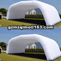 8x4x3.5m white and sliver oxford cloth inflatable stage tent , inflatable party tents for events+free shipping