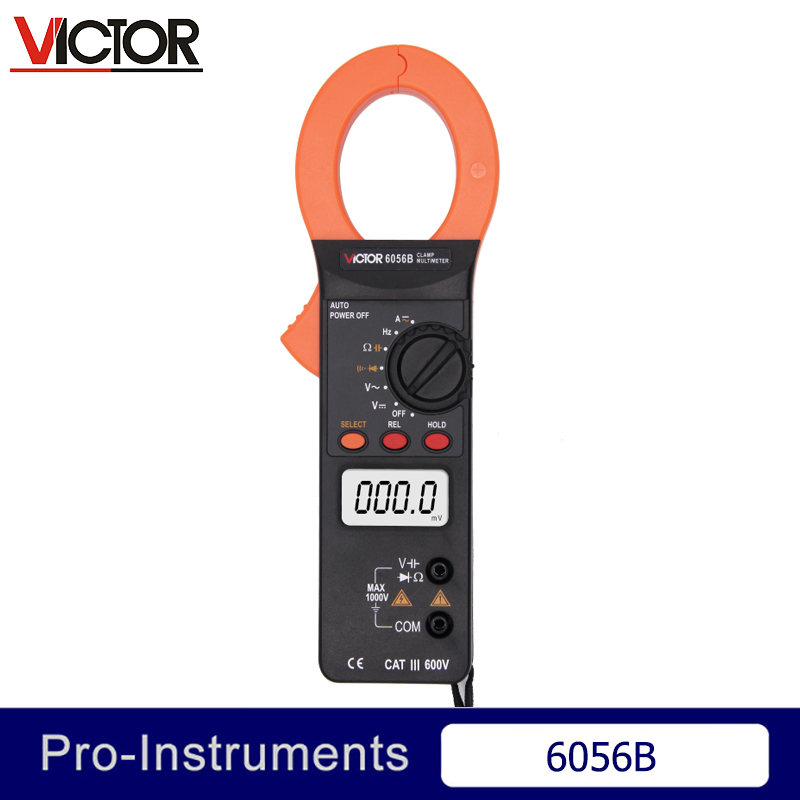 Victor VC6056B Professional Victor Digital Multimeters Auto Range Capacitance 1000V 1000A Clamp Meter Ammeter Voltmeter Null