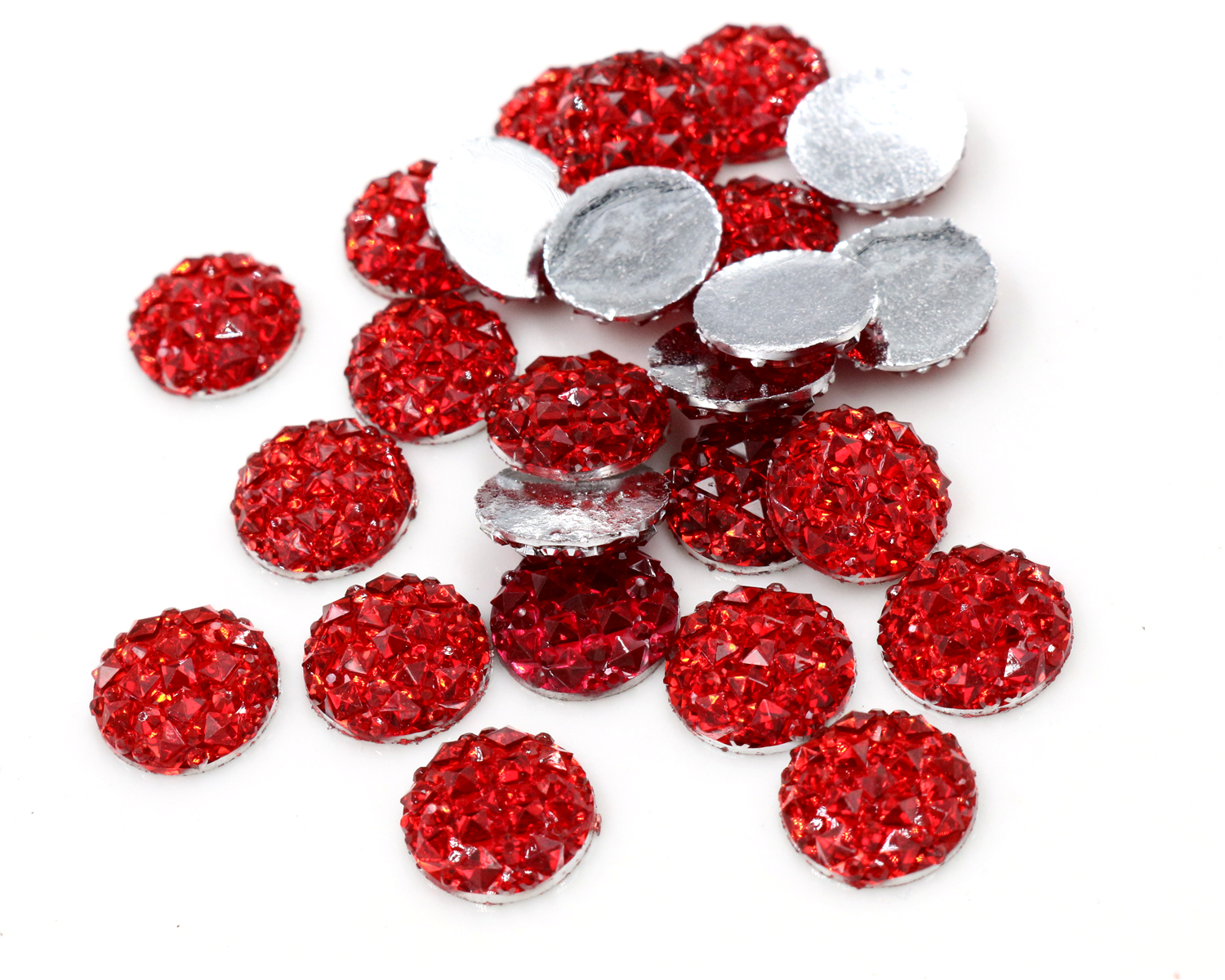 New Fashion 40pcs 12mm Red Color Flat Back Resin Cabochons Cameo  G5-04New Fashion 40pcs 12mm Red Color Flat Back Resin Cabochons Cameo  G5-04