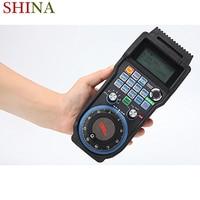 SHINA New 6 Axis Wireless CNC Handwheel Mach3 MPG Pendant Manual Pulse Generator
