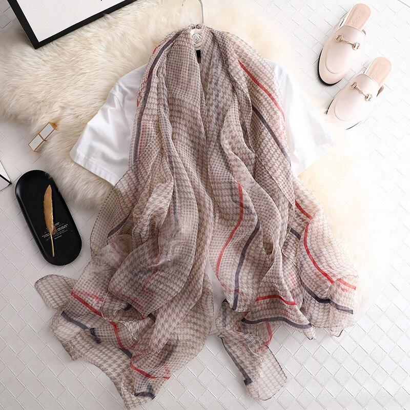 Designer Brand Women Scarf Fashion Print Summer Silk Scarves Shawls And Wraps Lady Big Size Pashmina Hijabs Foulard Beach Stoles