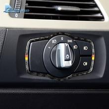 Airspeed for BMW E90 3 Series Interior Carbon Fiber Car Headlight Switch Frame Accessories 318i 320i 325i Headlamp Trim