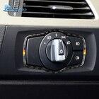 Airspeed for BMW E90 3 Series Interior Carbon Fiber Car Headlight Switch Frame Accessories 318i 320i 325i Headlamp Switch Trim