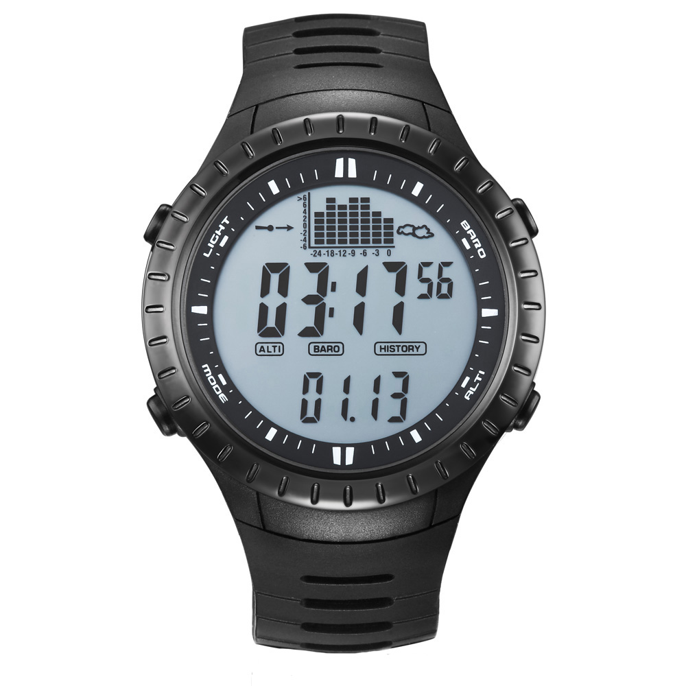 Spovan Brand Luxury LED Sport Fitness Hiking Altimeter Barometer Rubber Outdoor Digital Sport Watches For Men Relogio Masculino