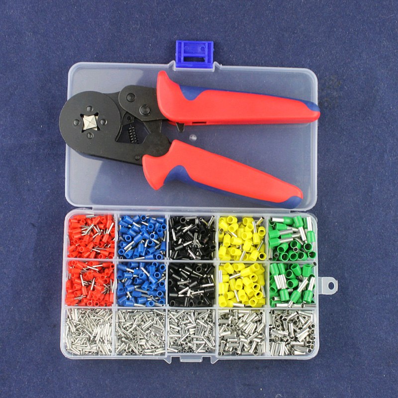 Self-Adjustable Crimping Plier&Crimping Terminals Sets AWG24-10 Wire Cable Tube Terminals Crimping Kits Pliers Multi Hand Tools цены