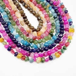 10 12mm Strand 15'' Natural Stone Dragon Vein Agates Bead Irregular Loose Spacer Beads For Jewelry Making Findings DIY Bracelet