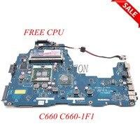 NOKOTION Laptop Motherboard for Toshiba C660 C660 1F1 K000111440 DDR3 K000111440 PWWAA LA 6842P Main board full tested FREE CPU