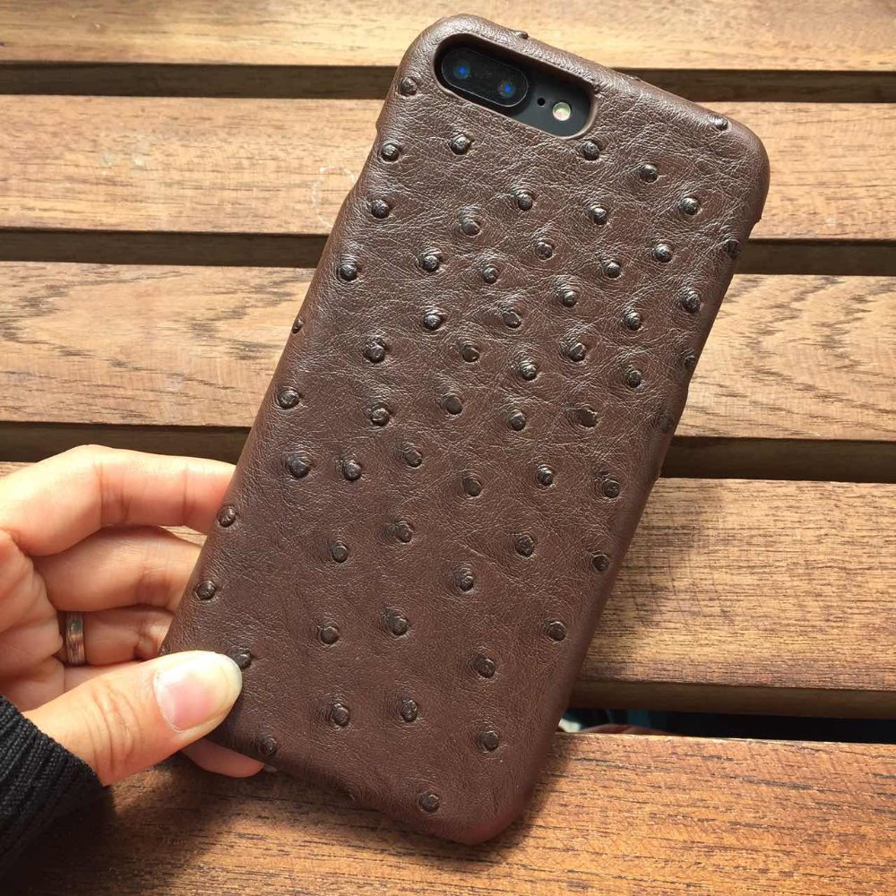 Phone case For iphone 6 6s 6plus 6splus 7 7plus 8 8p case with Ostrich skin leather pattern PU ultrathin capa for iphone 7 case