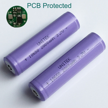 2-5PCS ICR 3.7V 18650 li-ion battery 2800mah rechargeable Lithium ion cells with PCB protection for flashlight DIY powerbank