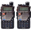 Walike Talkie 2 PCS Baofeng UV-5RE Dual Band Two Way Radio CB 5 W 128 CH UHF VHF FM VOX Dual Display transporte Rápido