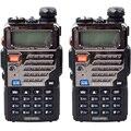 Walike Talkie 2 UNIDS Baofeng UV-5RE Doble Banda radio de Dos Vías de Radio CB 5 W 128 CH UHF VHF FM VOX Dual Display envío Rápido
