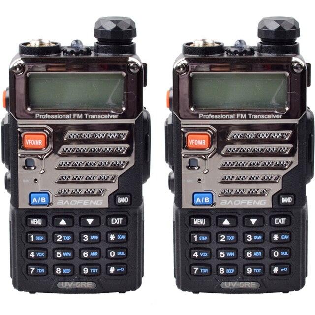 Walike Talkie 2PCS Baofeng UV-5RE Dual Band Two Way CB Radio 5W 128 CH UHF VHF FM VOX Dual Display Fast shipping