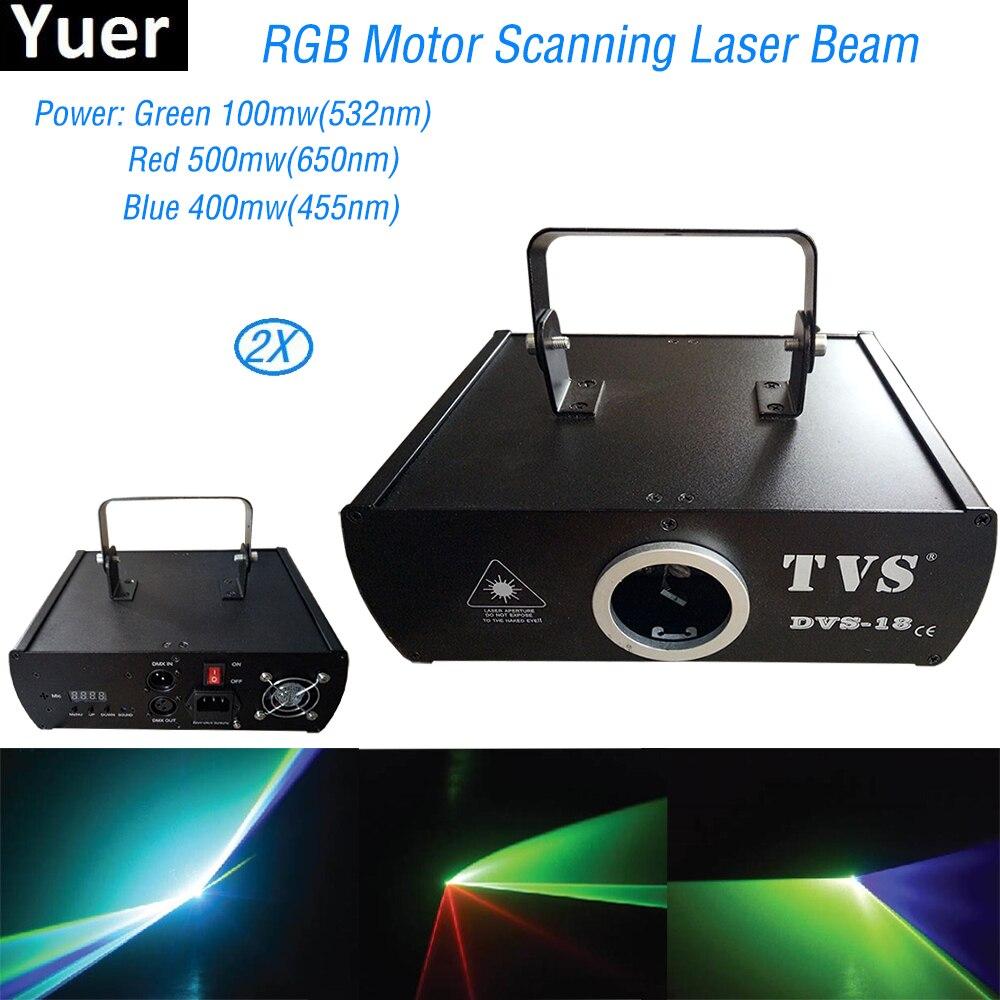 2 pcs/lot RGB Lumière Laser Musique Projecteur Dj Disco Lumières Stroboscopiques DMX 512 Laser Disco Musique Center Équipement Livraison Gratuite
