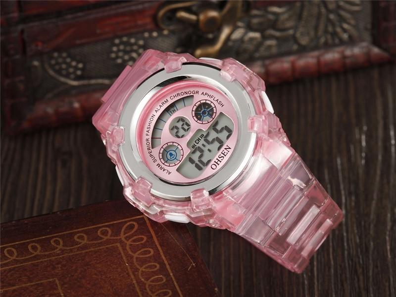 OHSEN Kids Watches Children Digital LED Fashion Sport Watch Cute Boys Girls Wrist watch Waterproof Gift Watch Alarm Kids Clock (25)