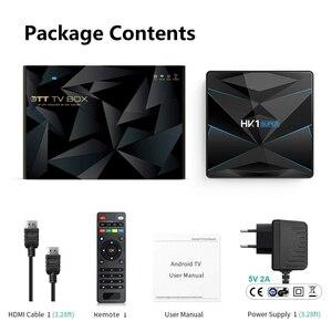 Image 2 - HK1 süper Android 9.0 TV kutusu Google asistan RK3318 4K 3D Ultra 4G 64G TV Wifi oyun mağaza hızlı Set üstü kutusu