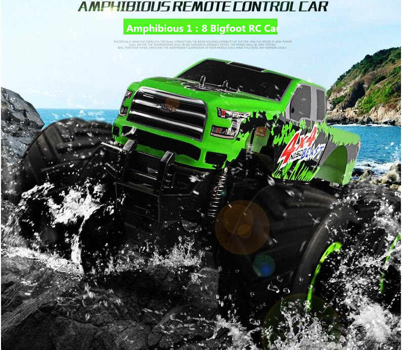 New Arriving 9119 1 8 Amphibious Vehicle Rc 4wd 6 Direction Monster Truck Rc Rock Crawler Rtr Off Road Rc Truck Drifting Car Monster Truck Rc Off Road Rcrc 4wd Aliexpress
