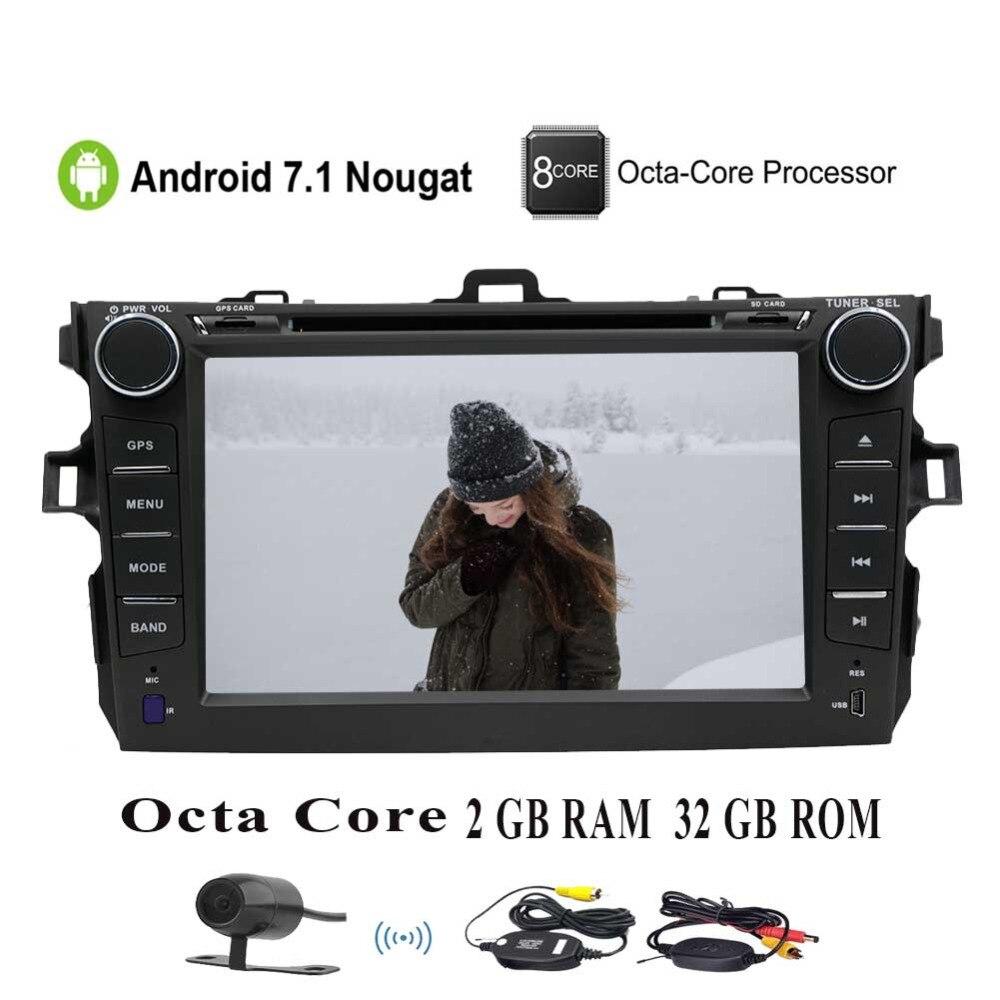 EinCar Octa Core Car Stereo GPS car DVD Player for Corolla Head Unit Double 2Din 7 Radio Receiver Navigation Bluetooth/3G//4G