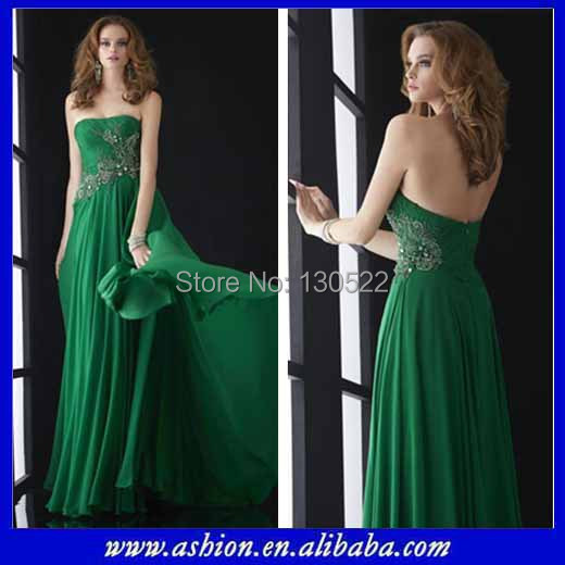 Emerald Green Evening Dress Designer