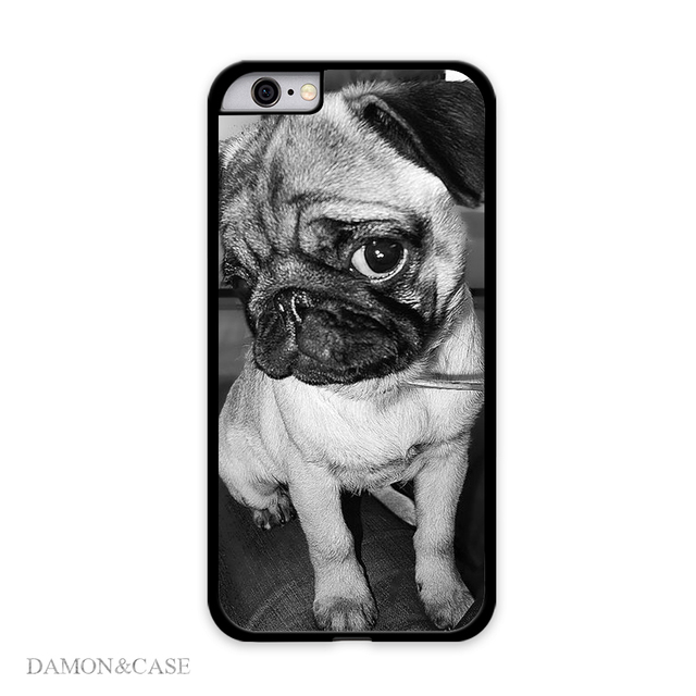 new concept f92c5 5ea2c US $4.99 |Lovely Fashion Cute Puppy Pug Cell Phone Cases For iPhone 5S 6  Plus Covers For Samsung Galaxy S4 S5 S6 Edge For HTC ONE M8 Case on ...