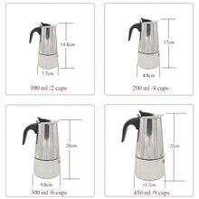 TINTON LIFE 2/4/6/9 Cups Stainless Steel Moka Espre sso Latte Percolator Stove Top Coffee Maker Pot