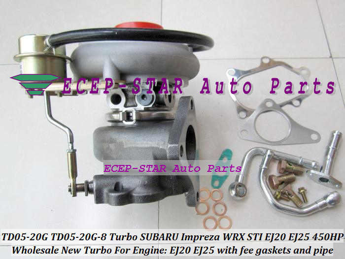 wholesale new TD05 20G TD05-20G TD05-20G-8 Turbo Turbocharger For SUBARU  WRX STI Engine EJ20 EJ25 2 0L MAX POWER 450HP