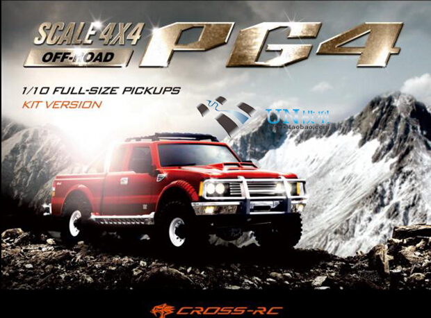 CROSS RC PG4 4x4 1/10 Cross Country Pickup Truck Kit-in RC Cars from