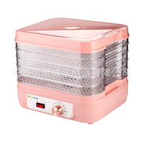 New Arrival Electric 6 Layer Fruit Dryer Machine Food Dehydrator Air Dryer Household Fruit Vegetable Meat