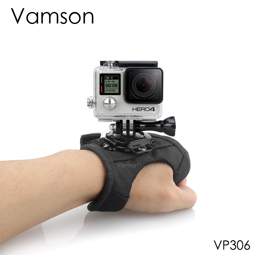 Vamson For Go Pro Accessories Diving Case 360 Degree Rotation Glove-style For Gopro Hero 8 7 6 5 4 3+for Xiaomi For Yi 4k VP306