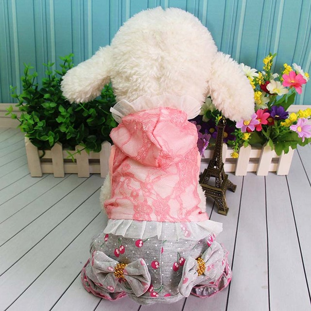 Fashion Pet Clothes Blue Pink Cute Lace Girl Dog Pajamas Jumpsuit Rompers Puppy Apparel Pet Costume & Fashion Pet Clothes Blue Pink Cute Lace Girl Dog Pajamas Jumpsuit ...