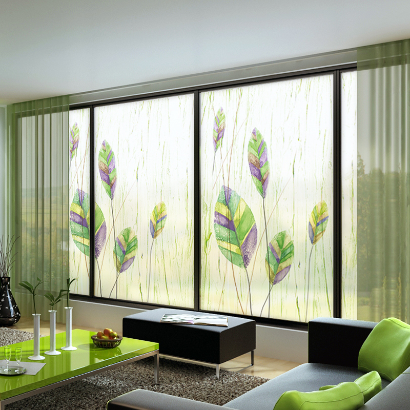 Support Custom Size Self adhesive Window Film Privacy Electrostatic Paste Glass Stickers Frosted Foil Waterproof Bathroom