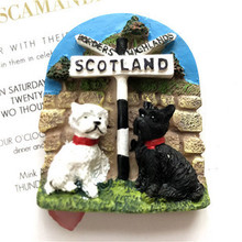 Scottish dog features travel fridge stickers