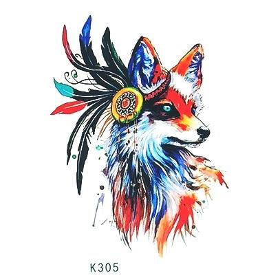 Waterproof Temporary Tattoo Sticker watercolor fox tatto stickers flash tatoo fake tattoos for child girl women