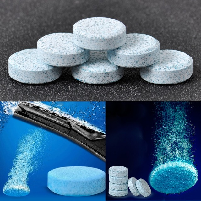DWCX 6pcs Car Windshield Glass Washer Cleaner Safe Compact Effervescent Tablets Detergent Fine Concentrated Solid